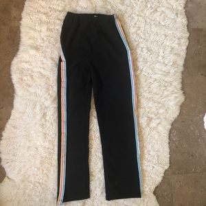 NWT Brandy Rainbow Stripe Black Stretchy Pant